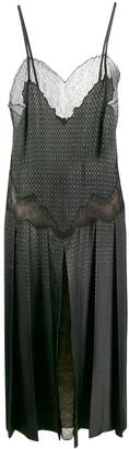 Fendi sleeveless lace panelled dress