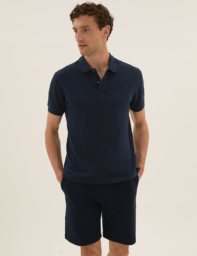 find Mens Pure Cotton Tipped Polo