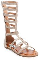 Stevies Girls' #GREEKGODDESS Tall Gladiator Sandals - Gold