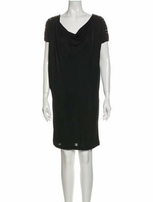Emilio Pucci Cowl Neck Mini Dress Black