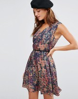 Lavand Floral Belted Dress