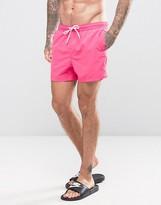 Asos Swim Shorts In Bright Pink Short Length