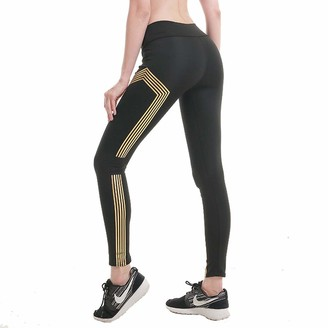 SotRong Women's Seamless High Waisted Gym Leggings Reflective Design Power Stretch Yoga Pants Running Workout Leggings Girls Sports Trousers XL