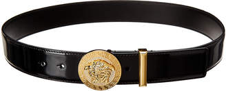 Versace Crystal Medusa Buckle Patent Belt