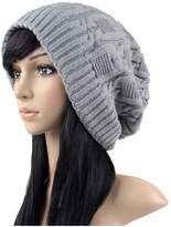 Ilishop Thick Slouchy Knit Oversized Beanie Cap Hat Winter Warmming Cap
