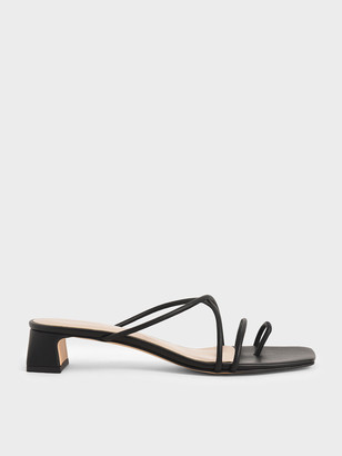 Charles & Keith Strappy Toe Ring Sandals