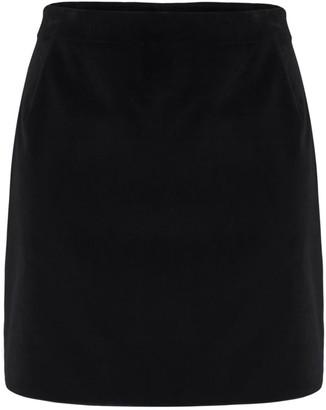 Muza A-Line Velvet Mini Skirt
