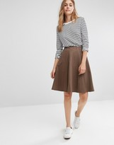 People Tree Organic Cotton Relaxed Midi Skirt