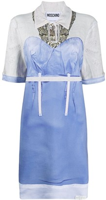 Moschino Bustier-Panelled Shirt Dress
