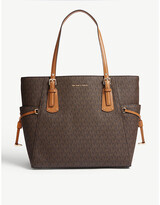 MICHAEL Michael Kors Voyager small coated canvas tote