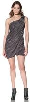 Cut25 Women's One-Shoulder Python Print Dress