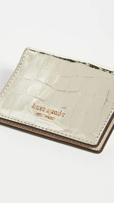 Kate Spade Sylvia Croc Embossed Mirror Card Case