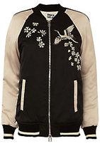 Pam & Gela Crane Embellished Bomber Jacket