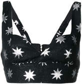 Christian Pellizzari star print cropped top