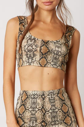 Cotton Candy Snake Print Crop Top