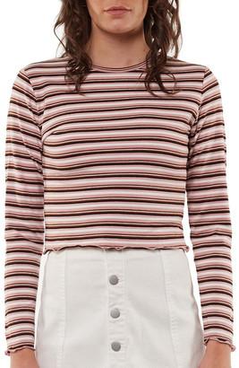All About Eve Lulu Stripe Long Sleeve Rib Top