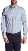 Peter Millar Rugby Melange Plaid Long Sleeve Classic Fit Shirt