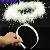 LUCKSTAR(TM) White Fallen Angel Costume Accessories Halo Headband