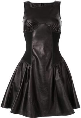 Neil Barrett leather mini dress