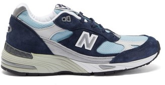 New Balance Made In England 991 Leather Trainers - Blue Multi