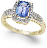 Macy's Tanzanite (7/8 ct. t.w.) and Diamond (1/5 ct. t.w.) Ring in 14k Gold