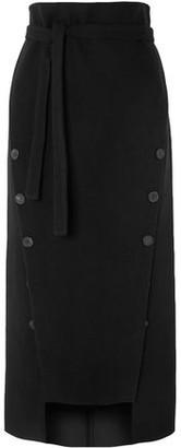 Awake Button-embellished Felt Midi Skirt
