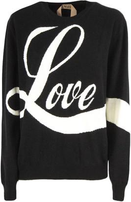 N°21 N.21 Black Virgin Wool Sweater