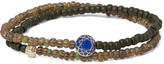 Luis Morais - Glass Bead, Sapphire And Gold Wrap Bracelet