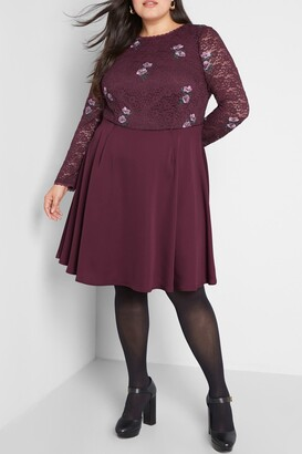 ModCloth Ready to Bloom Long Sleeve Dress