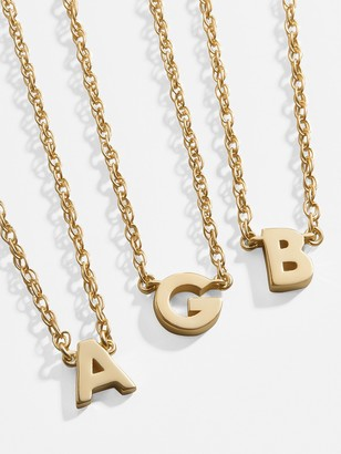 BaubleBar 14K Solid Gold Initial Necklace