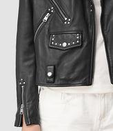 AllSaints Vettese Studded Leather Biker Jacket