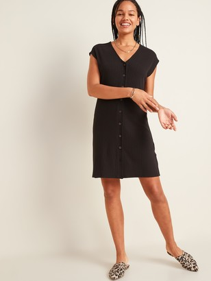 Old Navy Rib-Knit Button-Front Shift Dress for Women
