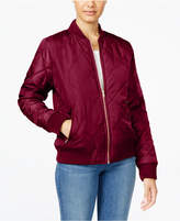 Say What Juniors' Quilted Bomber Jacket