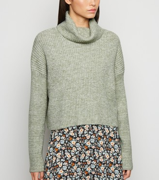 New Look Ribbed Knit Roll Neck Jumper