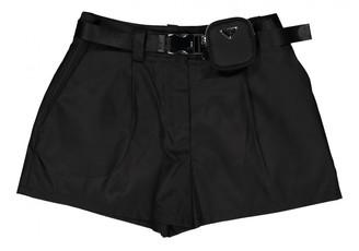 Prada Black Synthetic Shorts