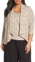 Alex Evenings Plus Size Women's Sequin Lace Twinset
