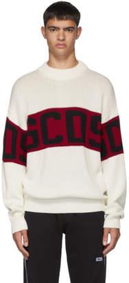 GCDS White Logo Sweater