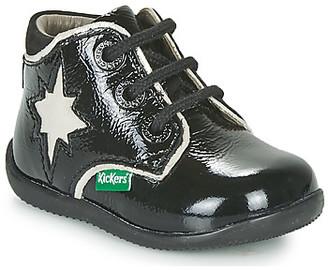 Kickers BIROCK girls's Mid Boots in Black