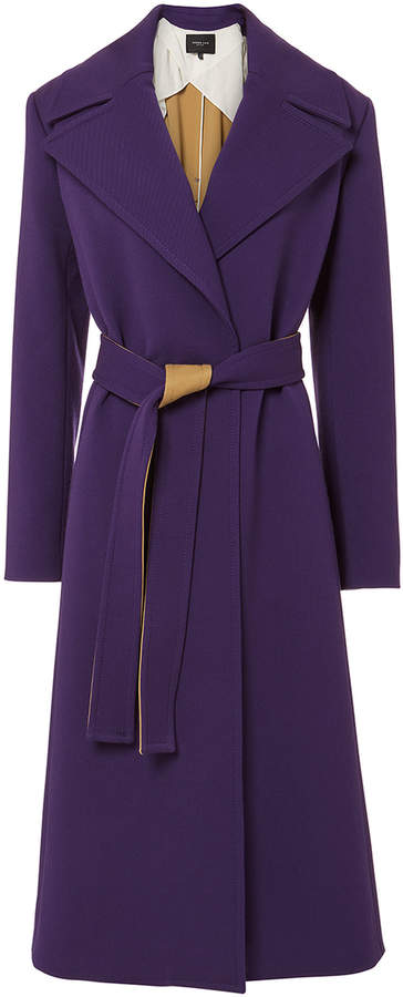 Derek Lam Belted Purple Trench Coat