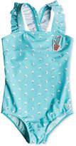 Roxy 1-Pc. Floral-Print Swimsuit, Little Girls
