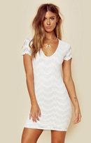 Nightcap Clothing deep v mariposa lace dress