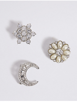 M&S Collection 3 Pack Diamanté Brooches