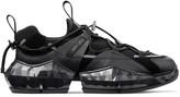 Jimmy Choo DIAMOND TRAIL/M Black Stretch Mesh Diamond Trail Trainers with Leather Detailing