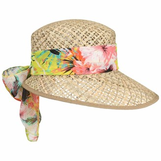 Lipodo Carina Womens Straw Hat Women - Made in Italy Sun Cap Summer Visor with Peak Spring-Summer - One Size Nature