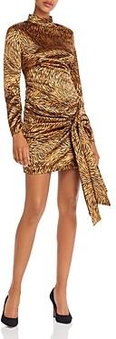 LIKELY Khaleesi Tie Detail Animal Print Dress