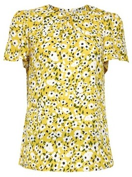 Dorothy Perkins Womens Billie & Blossom Yellow Floral Print Shell Top, Yellow