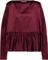 Antonio Berardi Gathered satin top