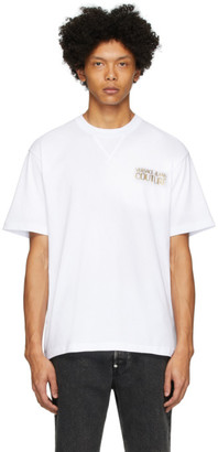 Versace White Metallic Logo T-Shirt