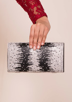 Missy Empire Laurelle Black And Silver Diamante Clutch Bag