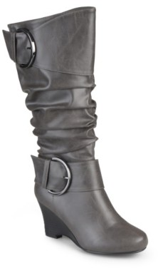 Journee Collection Meme Extra Wide Calf Wedge Boot